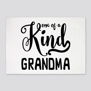 One of a kind Grandma 5'x7'Area Rug