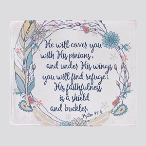 Under His Wings Throw Blanket