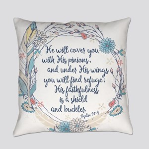 Under His Wings Everyday Pillow