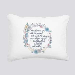 Under His Wings Rectangular Canvas Pillow