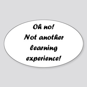Learning experience Oval Sticker