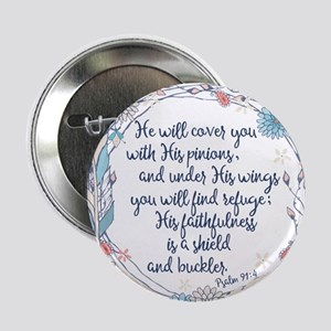 "Under His Wings 2.25"" Button"