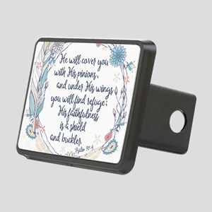 Under His Wings Rectangular Hitch Cover