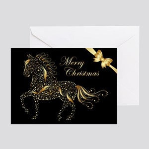 Sparkling Paso (20) Black Greeting Cards