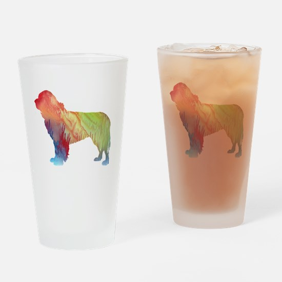 Cute Newfoundlands Drinking Glass