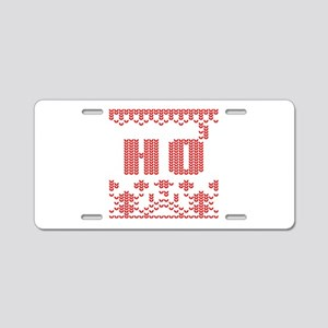 funny christmas sweater ho Aluminum License Plate