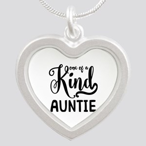 One of a kind Auntie Silver Heart Necklace