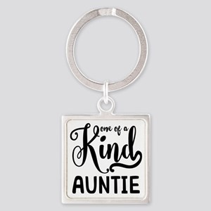 One of a kind Auntie Square Keychain