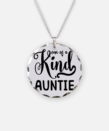One of a kind Auntie Necklace Circle Charm