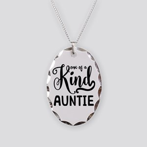 One of a kind Auntie Necklace Oval Charm