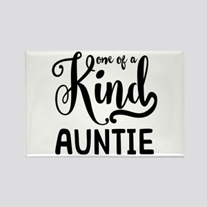 One of a kind Auntie Rectangle Magnet