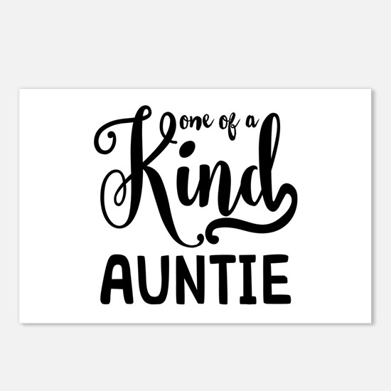 One of a kind Auntie Postcards (Package of 8)
