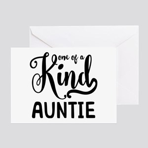 One of a kind Auntie Greeting Card