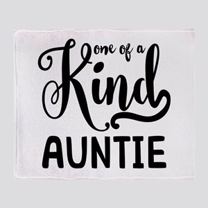 One of a kind Auntie Throw Blanket