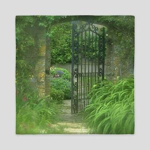 Garden Gate Queen Duvet