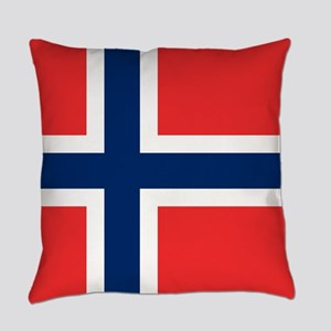 Flag of Norway Everyday Pillow