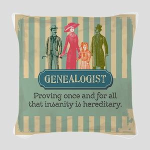 Genealogy Sayings Woven Throw Pillow