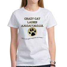 Crazy Cat Ladies Anonymous Women's T-Shirt