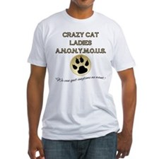 Crazy Cat Ladies Anonymous Fitted T-Shirt