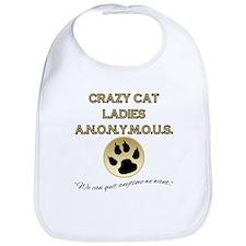 Crazy Cat Ladies Anonymous Bib