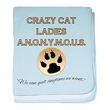Crazy Cat Ladies Anonymous baby blanket