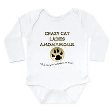 Crazy Cat Ladies Anony Long Sleeve Infant Bodysuit