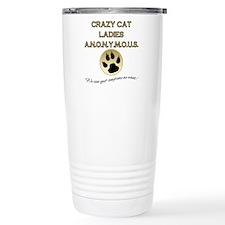 Crazy Cat Ladies Anonym Stainless Steel Travel Mug
