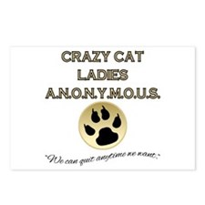 Crazy Cat Ladies Anonymou Postcards (Package of 8)