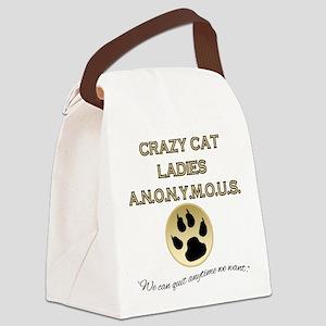 Crazy Cat Ladies Anonymous Canvas Lunch Bag