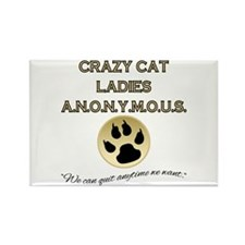 Crazy Cat Ladies Anonymous Rectangle Magnet