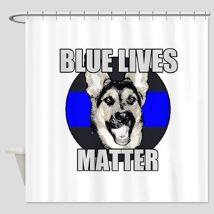 Blue Lives Matter Shower Curtain
