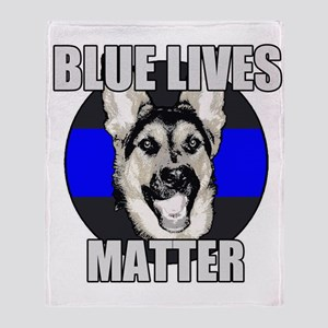 Blue Lives Matter Throw Blanket