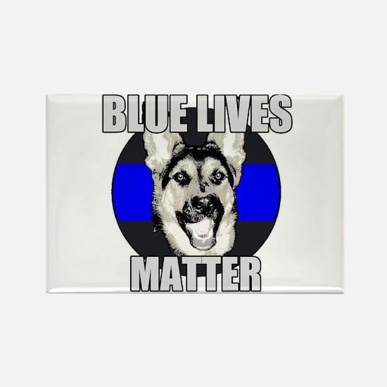 Blue Lives Matter Rectangle Magnet