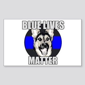 Blue Lives Matter Sticker (Rectangle)
