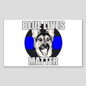Blue Lives Matter Sticker (Rectangle)