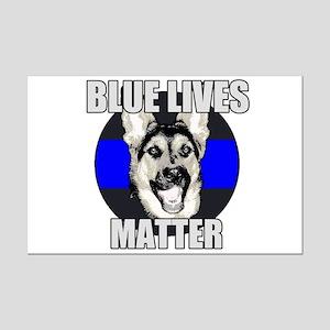 Blue Lives Matter Mini Poster Print