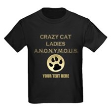 Custom Crazy Cat Ladies Kids Dark T-Shirt