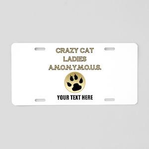 Custom Crazy Cat Ladies Aluminum License Plate