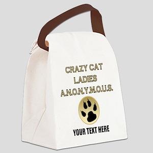 Custom Crazy Cat Ladies Canvas Lunch Bag