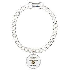 Custom Crazy Cat Ladies Charm Bracelet, One Charm