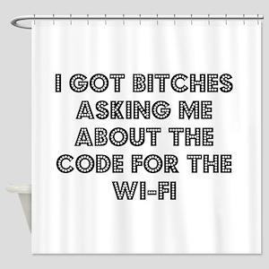 Wifi Shower Curtain