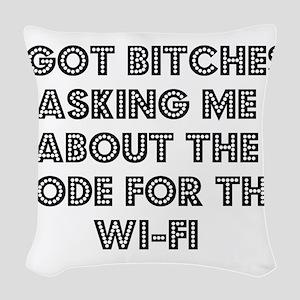 Wifi Woven Throw Pillow