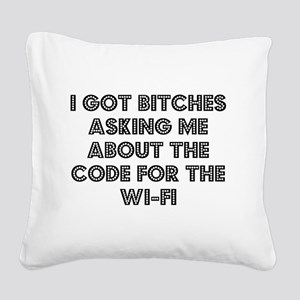 Wifi Square Canvas Pillow