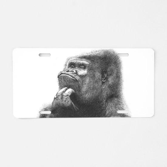 Unique Gorilla Aluminum License Plate