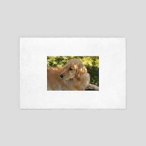 Nala the golden retriever in grass in 4' x 6' Rug