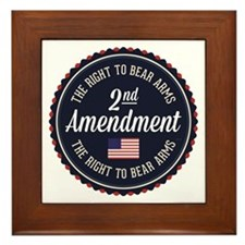 Second Amendment Framed Tile
