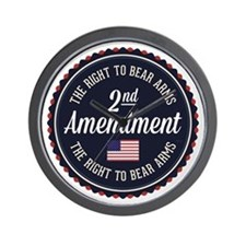 Second Amendment Wall Clock
