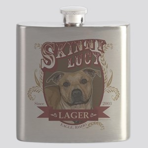 Skinny Lucy Pit Bull Lager Design Flask