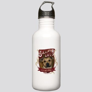 Skinny Lucy Pit Bull Lager Design Water Bottle