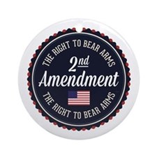 Second Amendment Round Ornament